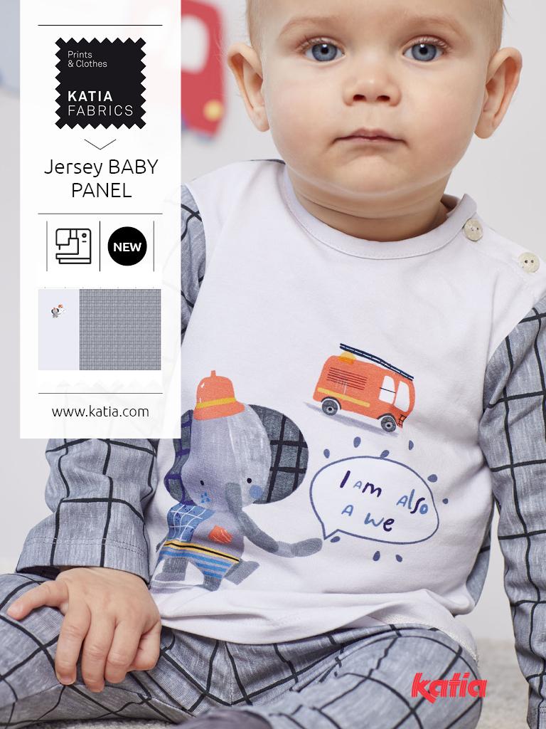 Nähen-Jersey-Panel-Baby