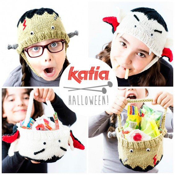 Is it a monstrous hat or a candy bag? 4 free Halloween patterns