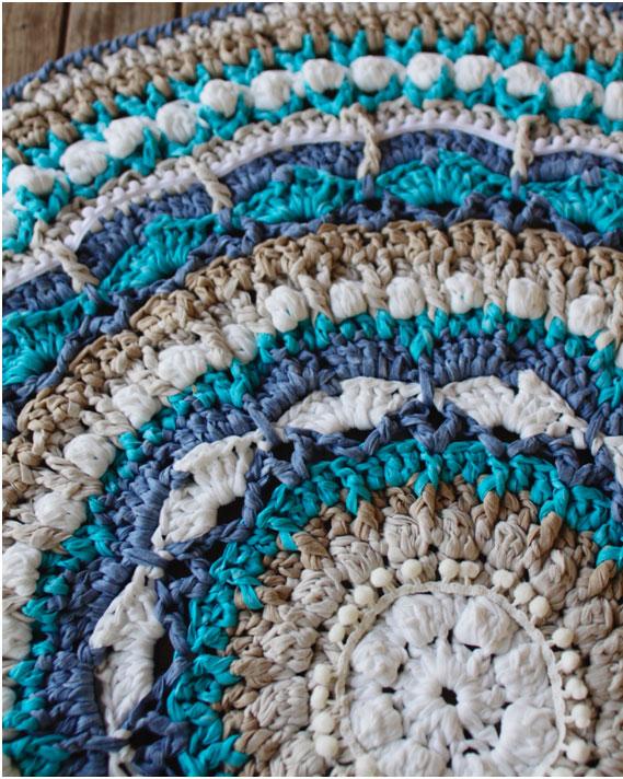 Mandala Rug made with Washi by Susimiu