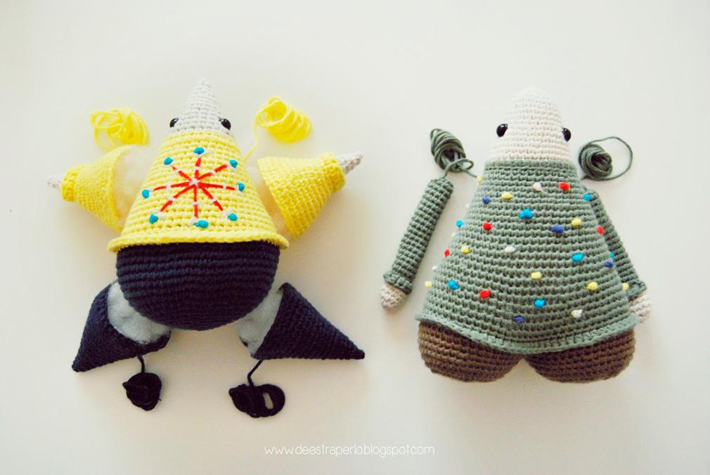 Amigurumi Craft Magazine : Craft Lovers  De Estraperlo and their Christmas amigurumis