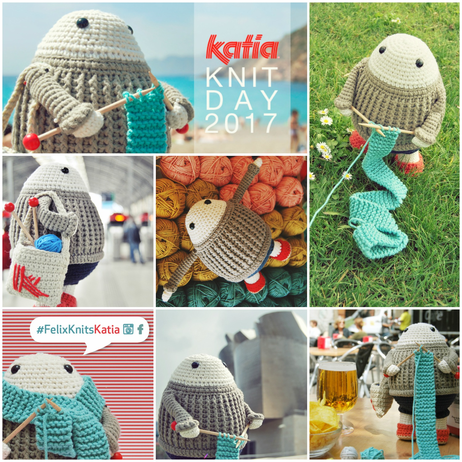 Felixknitskatia competition photograph felix the happy knitter in important you can personalise your own little felix by using other colours or other katia yarns from our catalogue and even creating your own accessories bankloansurffo Images