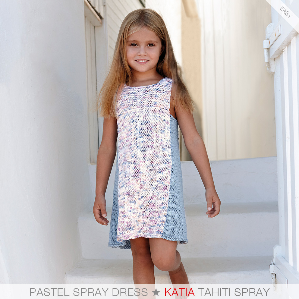 These are the 7 easiest knit patterns for girls from katia kids 81 2 side pieces knitted in garter st with katia tahiti in tonal pastels and on the other a combination of stockinette st and garter st with the bankloansurffo Image collections