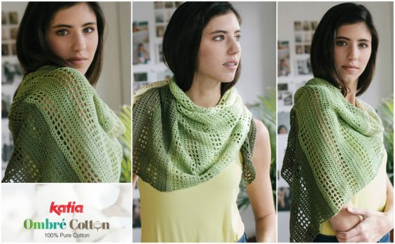 openwork shawl in gradient
