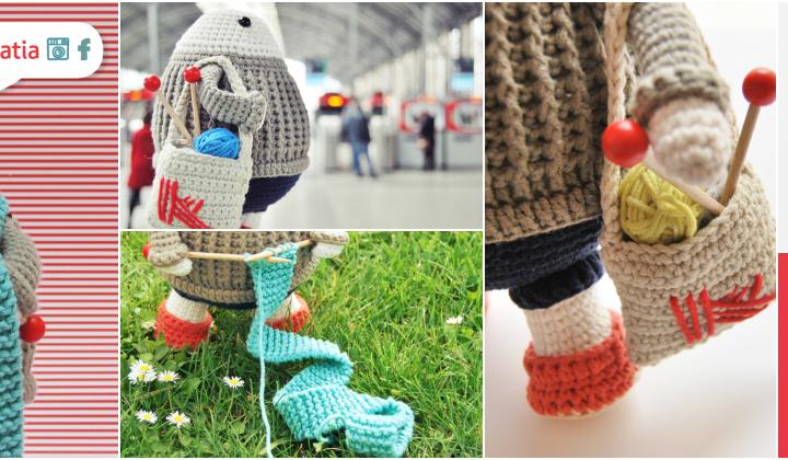 Knit in public with Felix