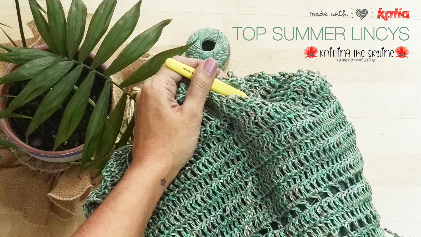 Summer Top crochet pattern made with Katia Lincys by Knitting the ...