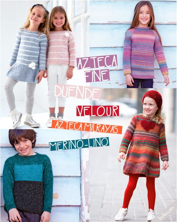 Hand knit kids fashion