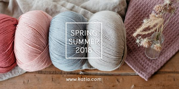 new yarns Spring Summer 2018 by Katia