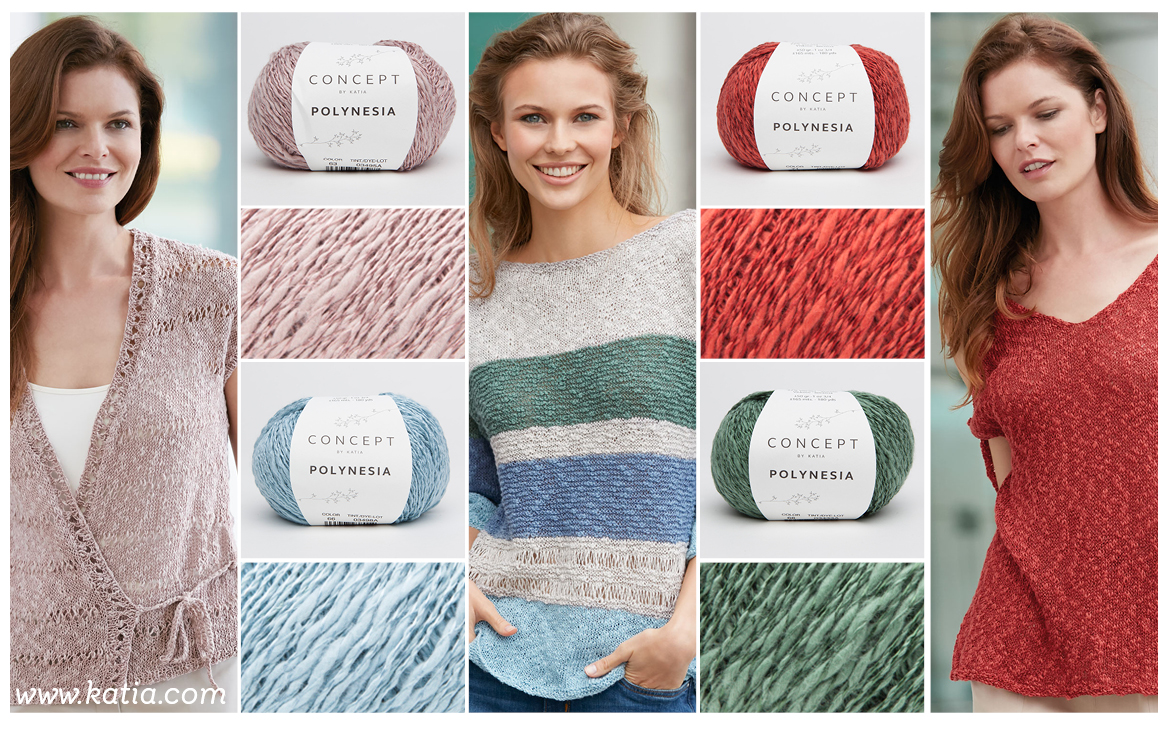New yarns Spring Summer 2018 by Katia to fall in love with