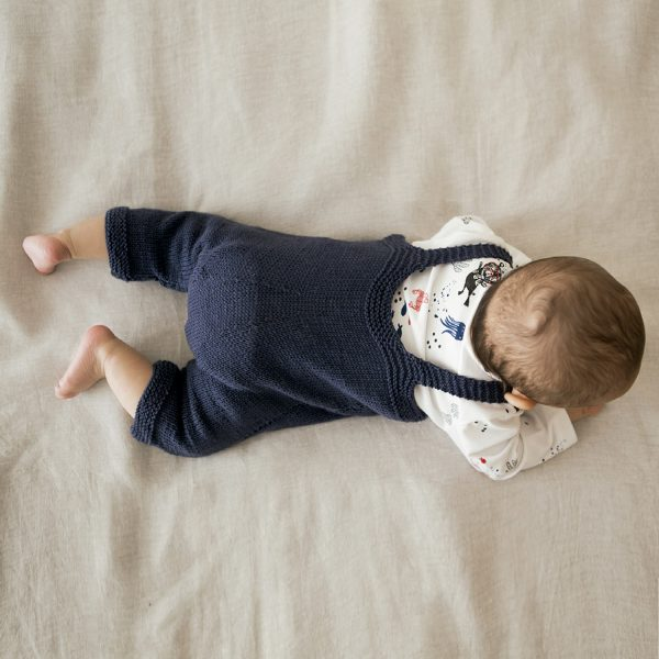 knit and fabric dungaree