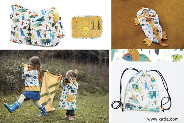 Katia fabrics autumn prehistoric sewing patterns