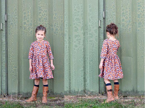 girl dress with arty poplin