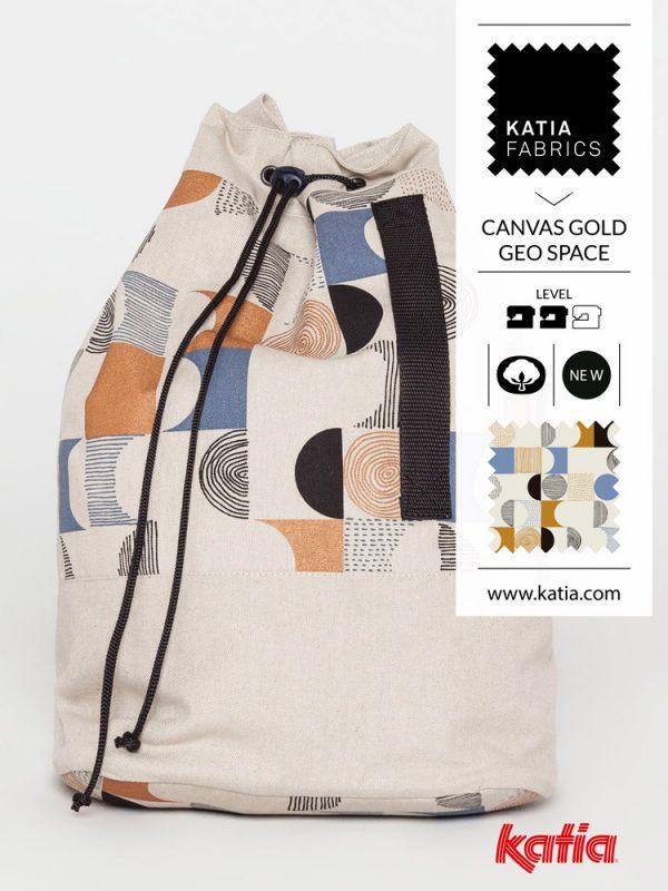 messenger bag GEO CANVASGOLD