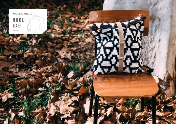 jacquard crochet backpack