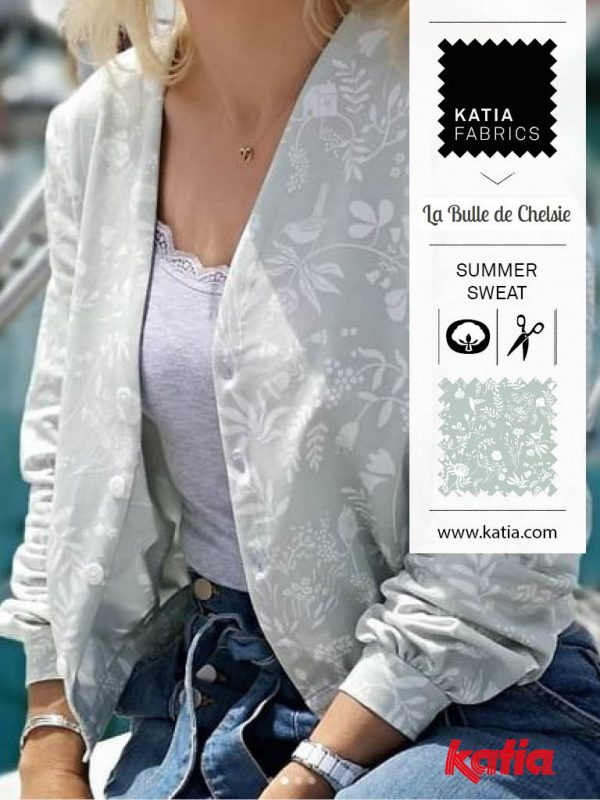 fabrics summer sweat bomber