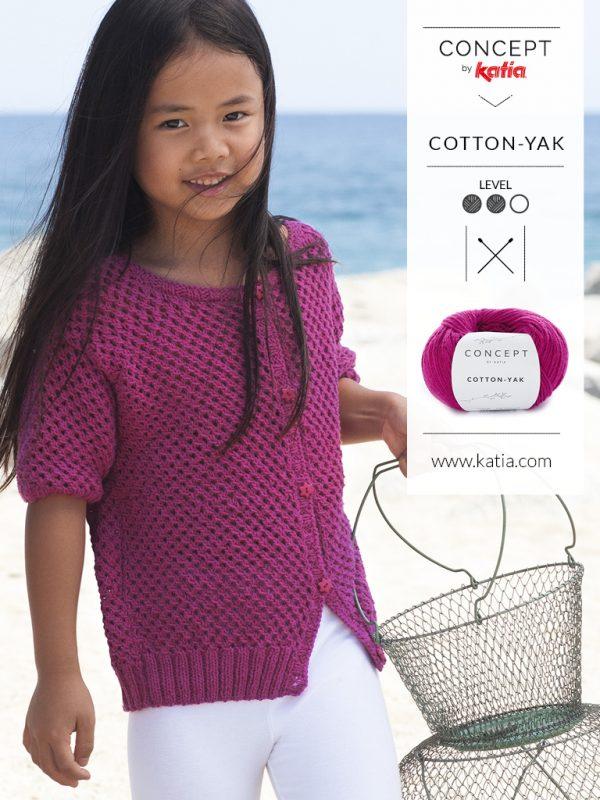 net stitch knit girl's jacket