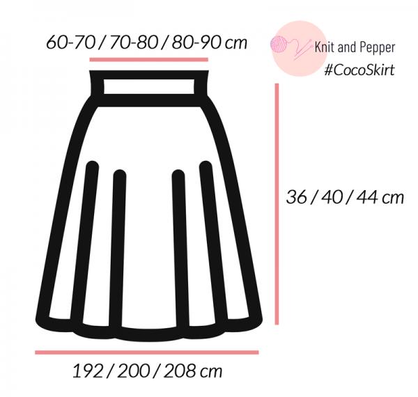 Short flared skirt: