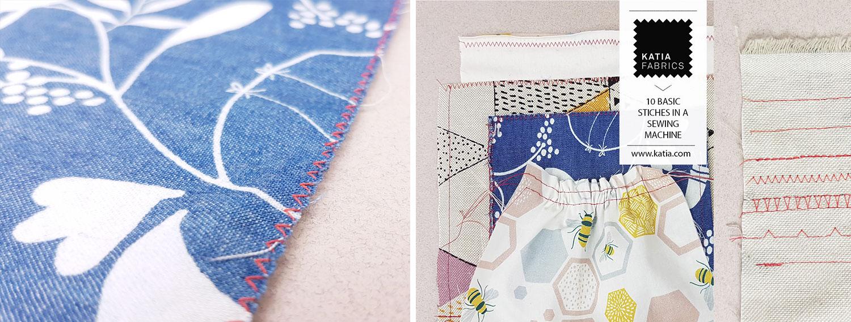 basics stiches in a sewing machine