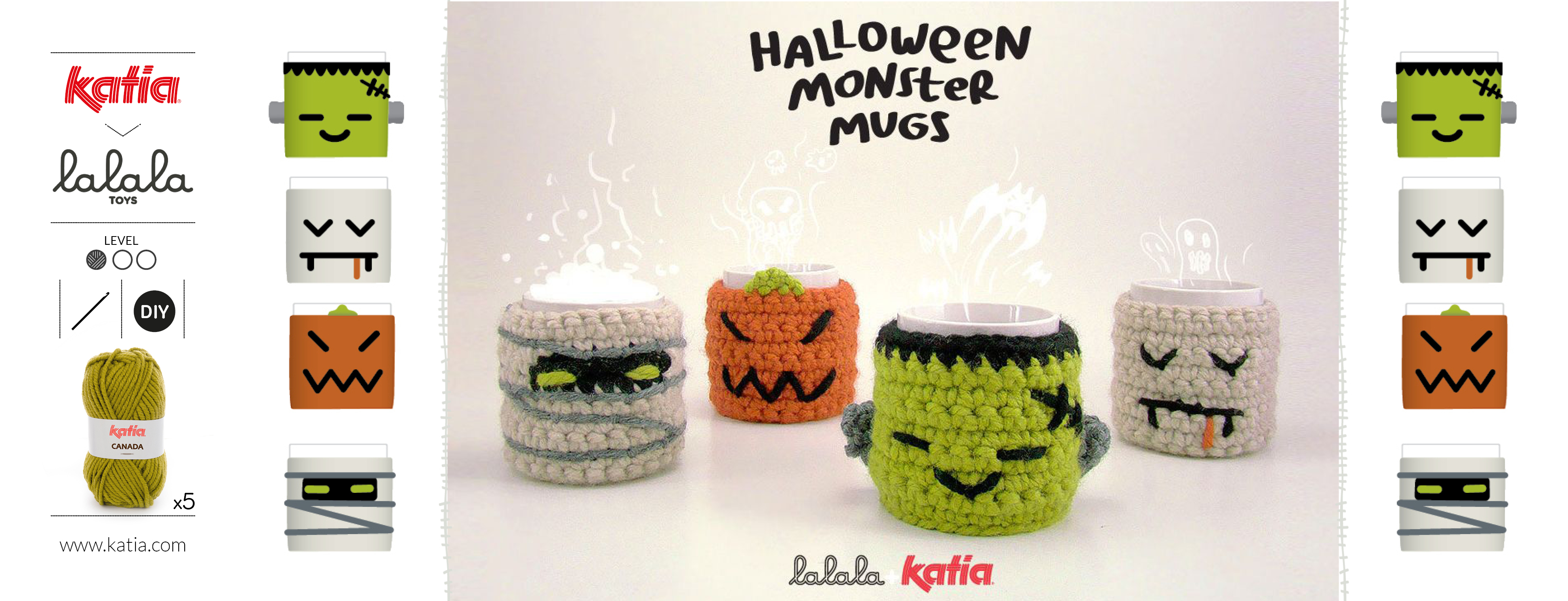 Crochet mug covers