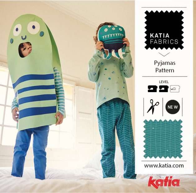 Kids pyjamas pattern halloween