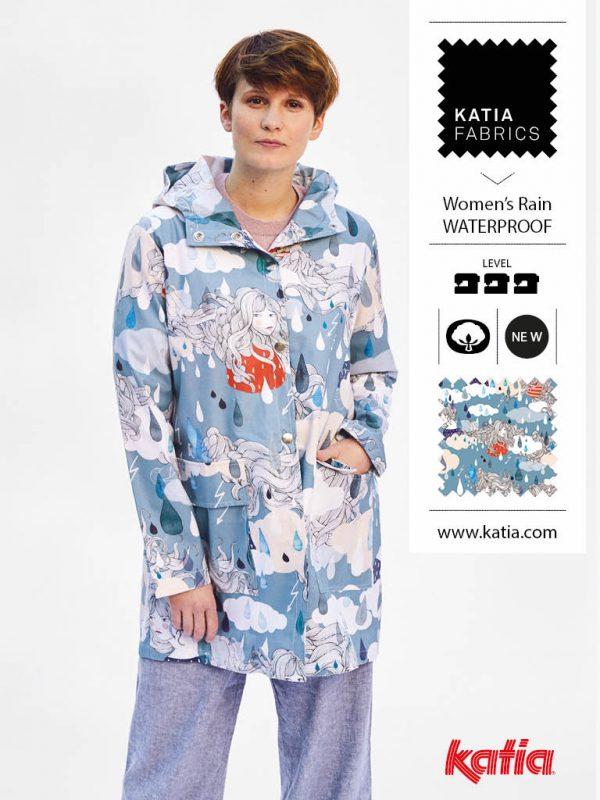 woman raincoat