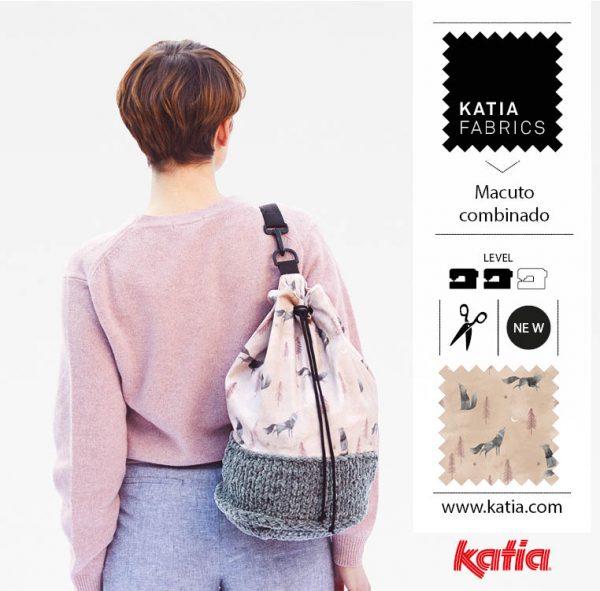 Combined duffle bag Jersey knit Pattern