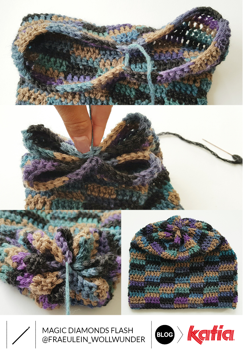 crochet hat with only 1 ball of yarn
