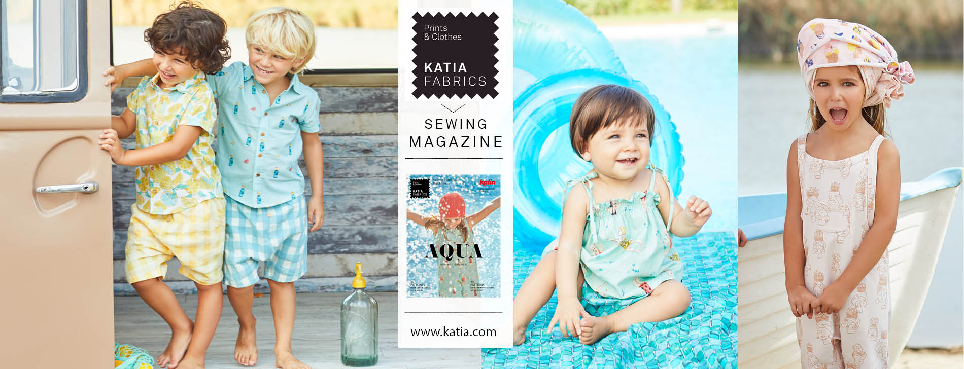 first sewing pattern magazine Katia Fabrics