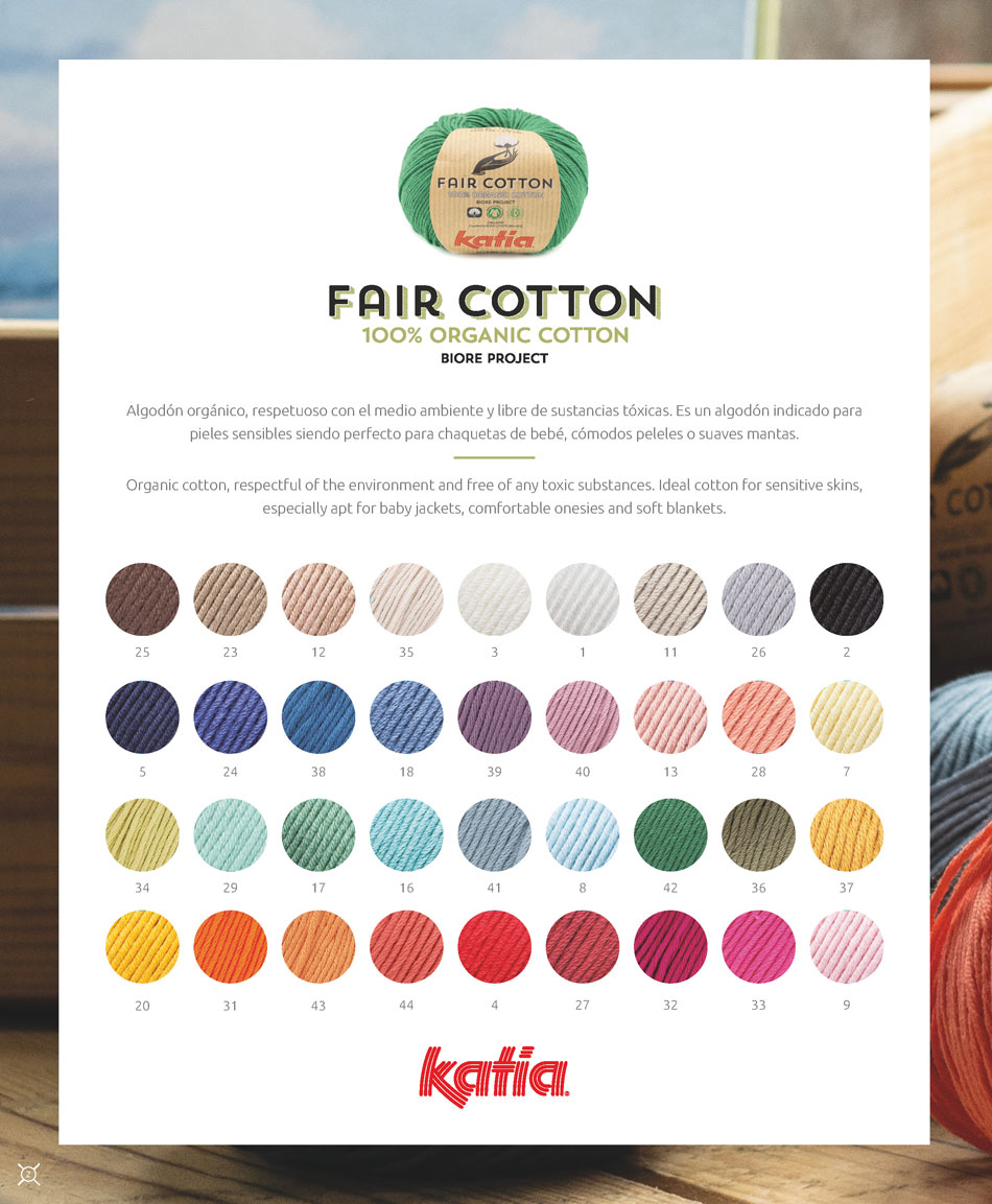 organic yarn Katia Fair Cotton