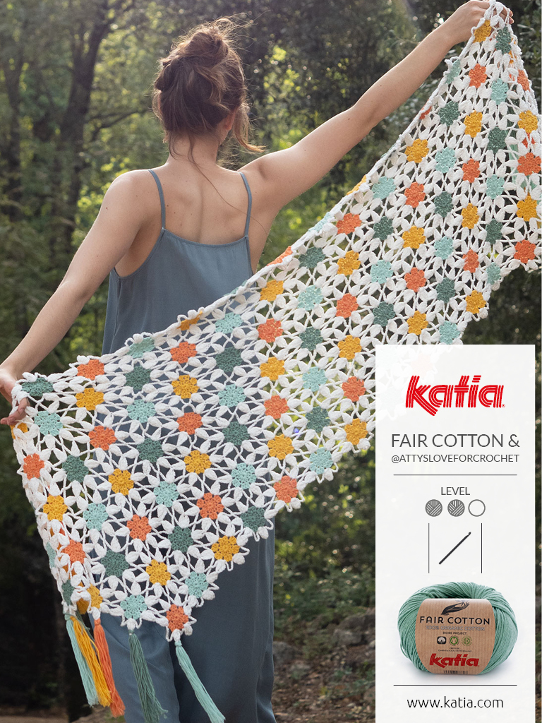 crochet flowers shawl
