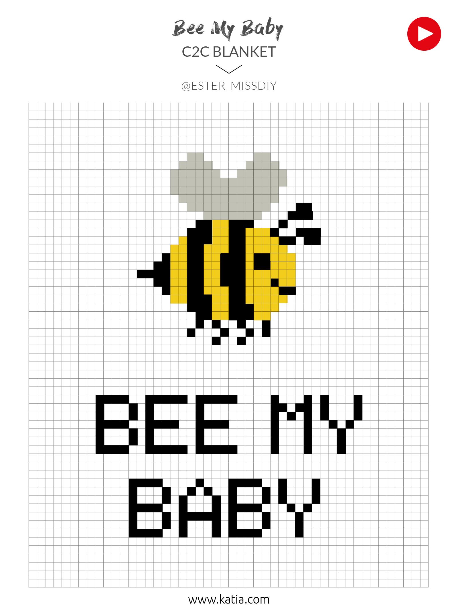 graph bee baby blanket
