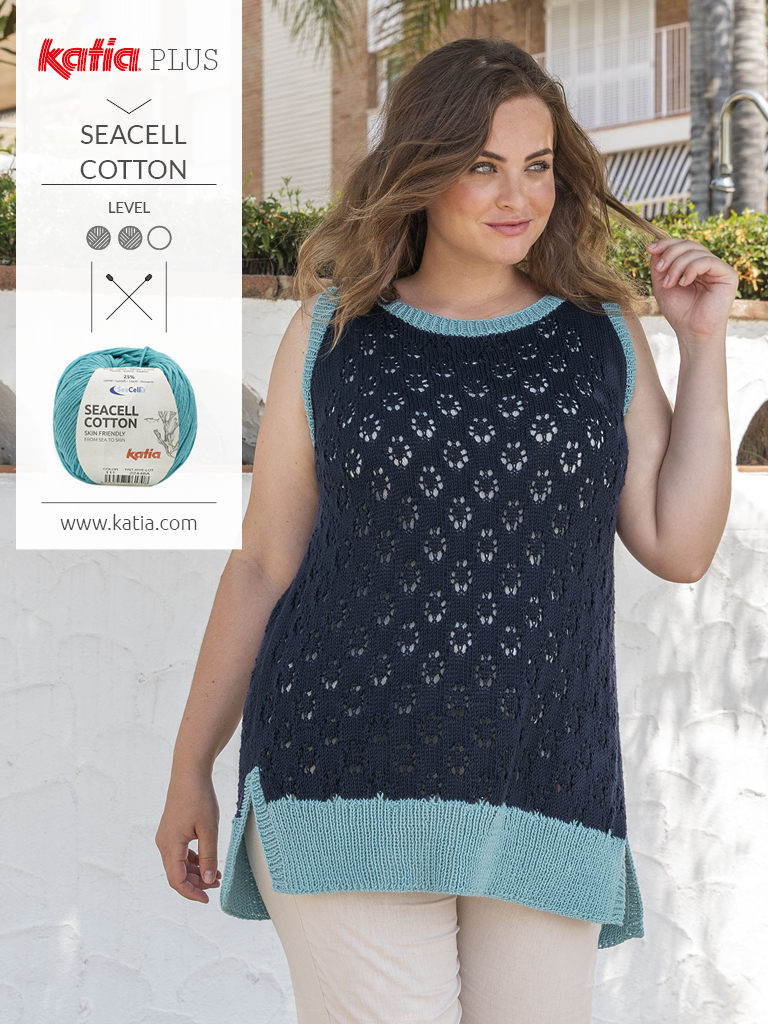 large size openwork stitch top