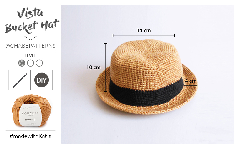 Narrow brim summer hat