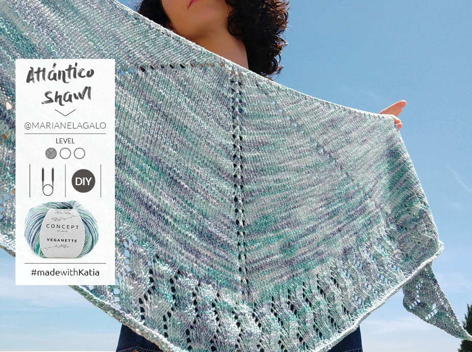 How to knit a crescent shawl