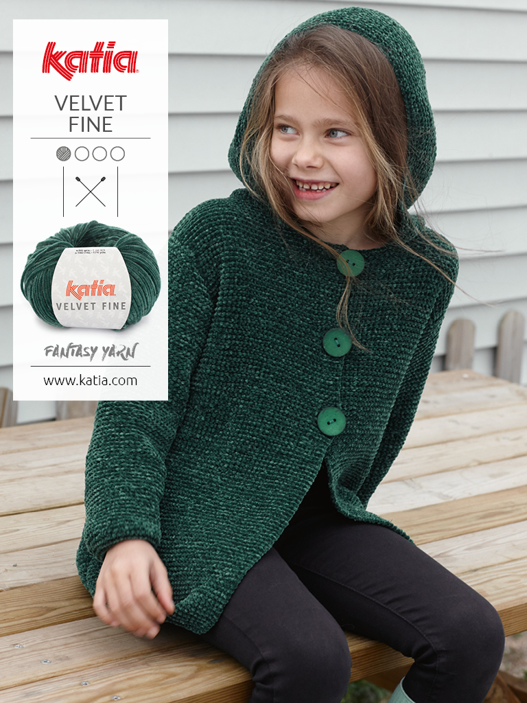 velvet classic coat with hood