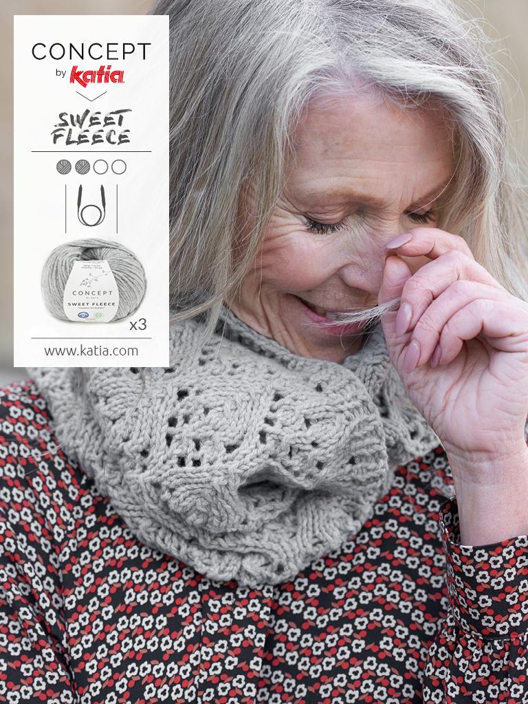 open work stitch neck warmer