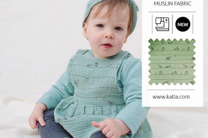 MUSLIN WITH TURTLES