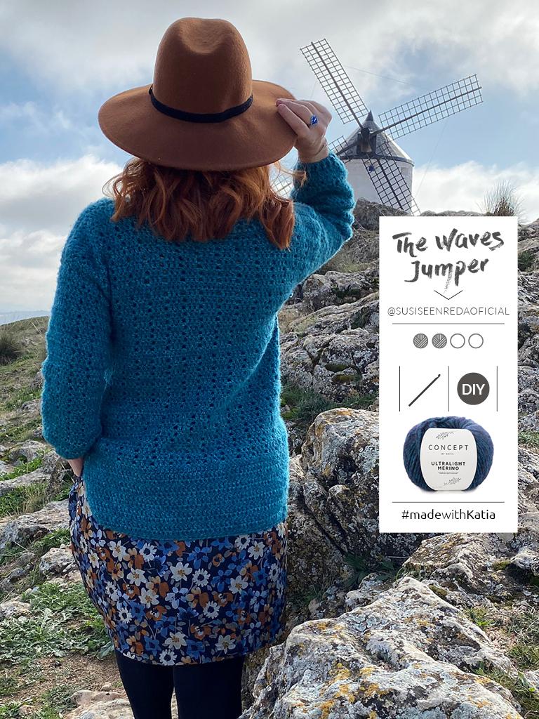 The Waves crochet jumper