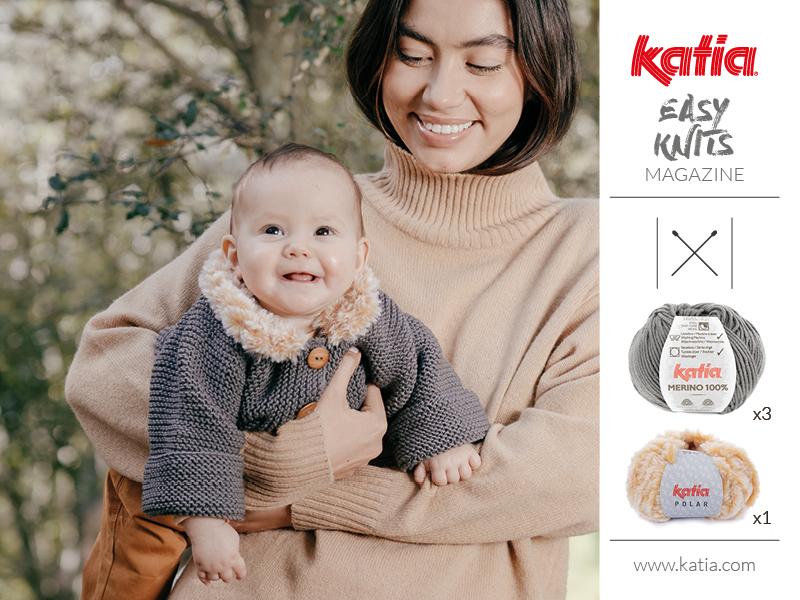 knitting baby jacket
