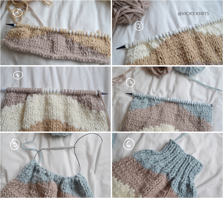 how to knit sleeves
