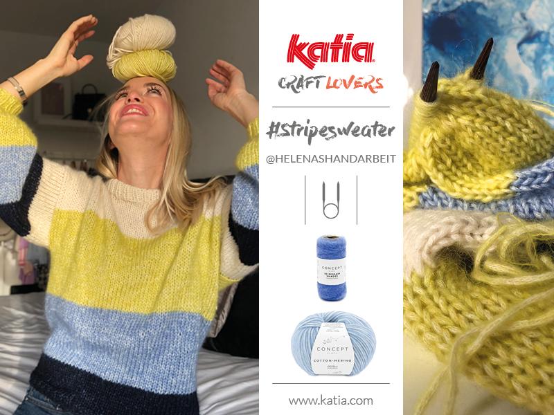 colorblock sweater with circular needles