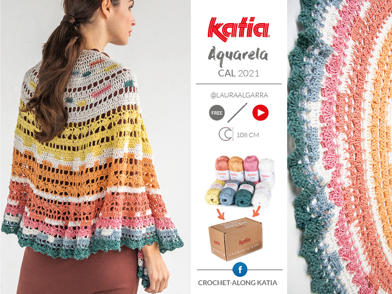 crochet half-crescent shawl