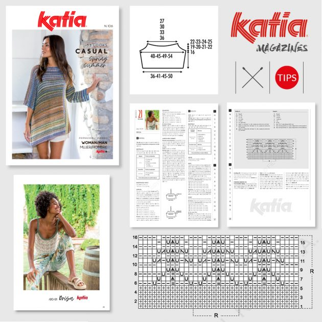 tips to easily follow Katia magazine patterns