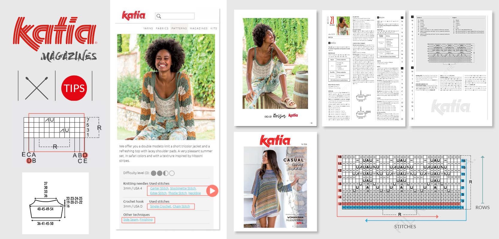 tips to easily follow Katia magazine patterns