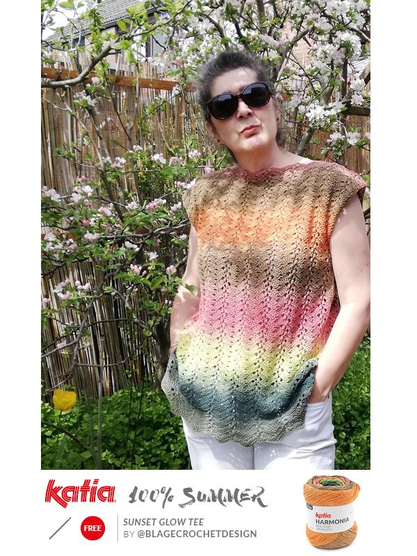 sunset glow crochet top