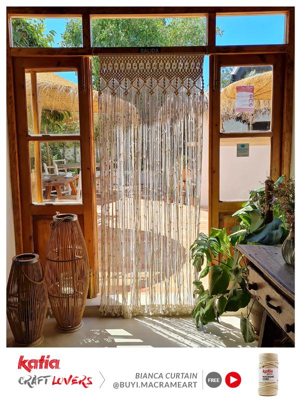 How to make a macramé curtain