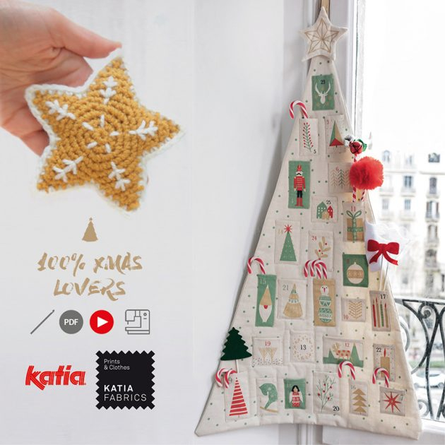 Advent Calendar sewing panel