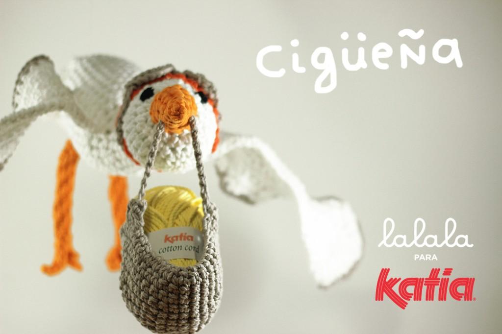 Craft Lovers ♥ Cigüeña por Lalala Toys - Katia Blog Lanas y Telas