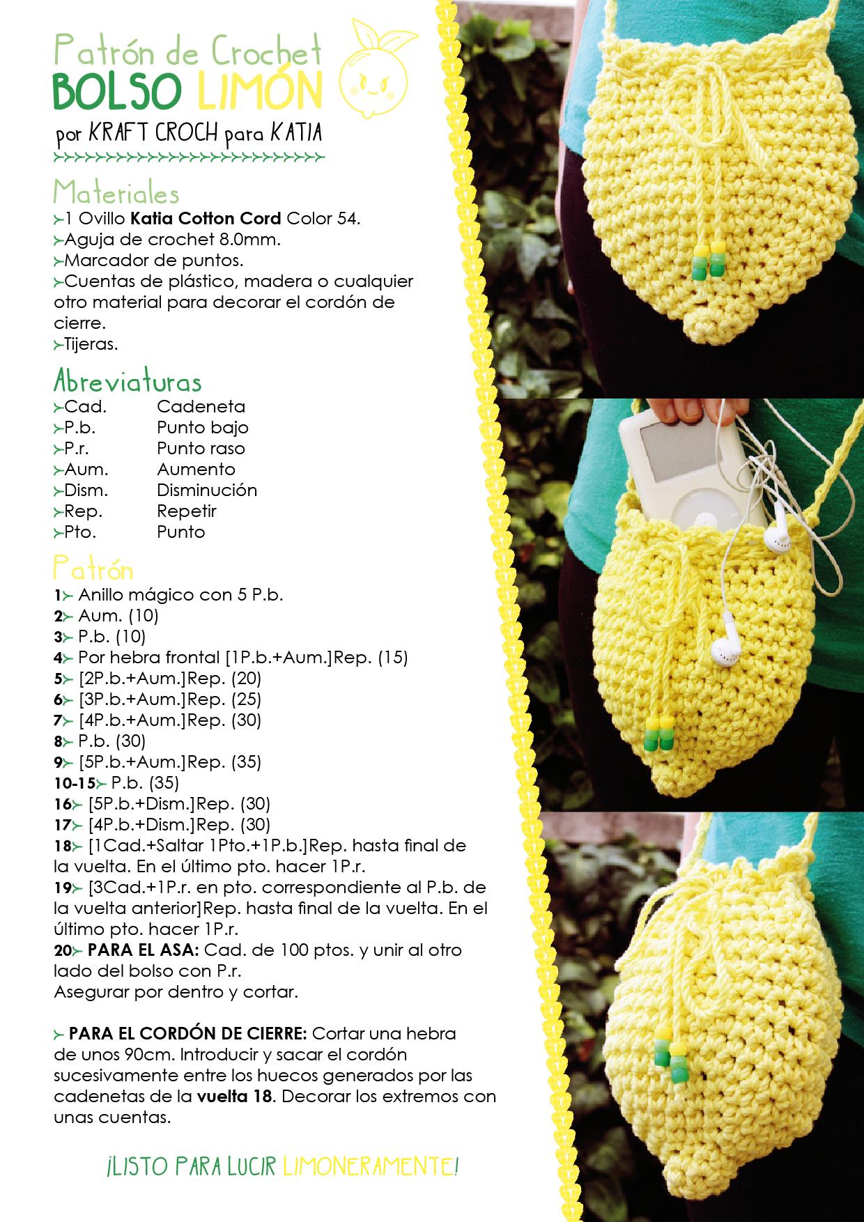 patrón bolso limón 02 - Katia Blog Lanas y Telas