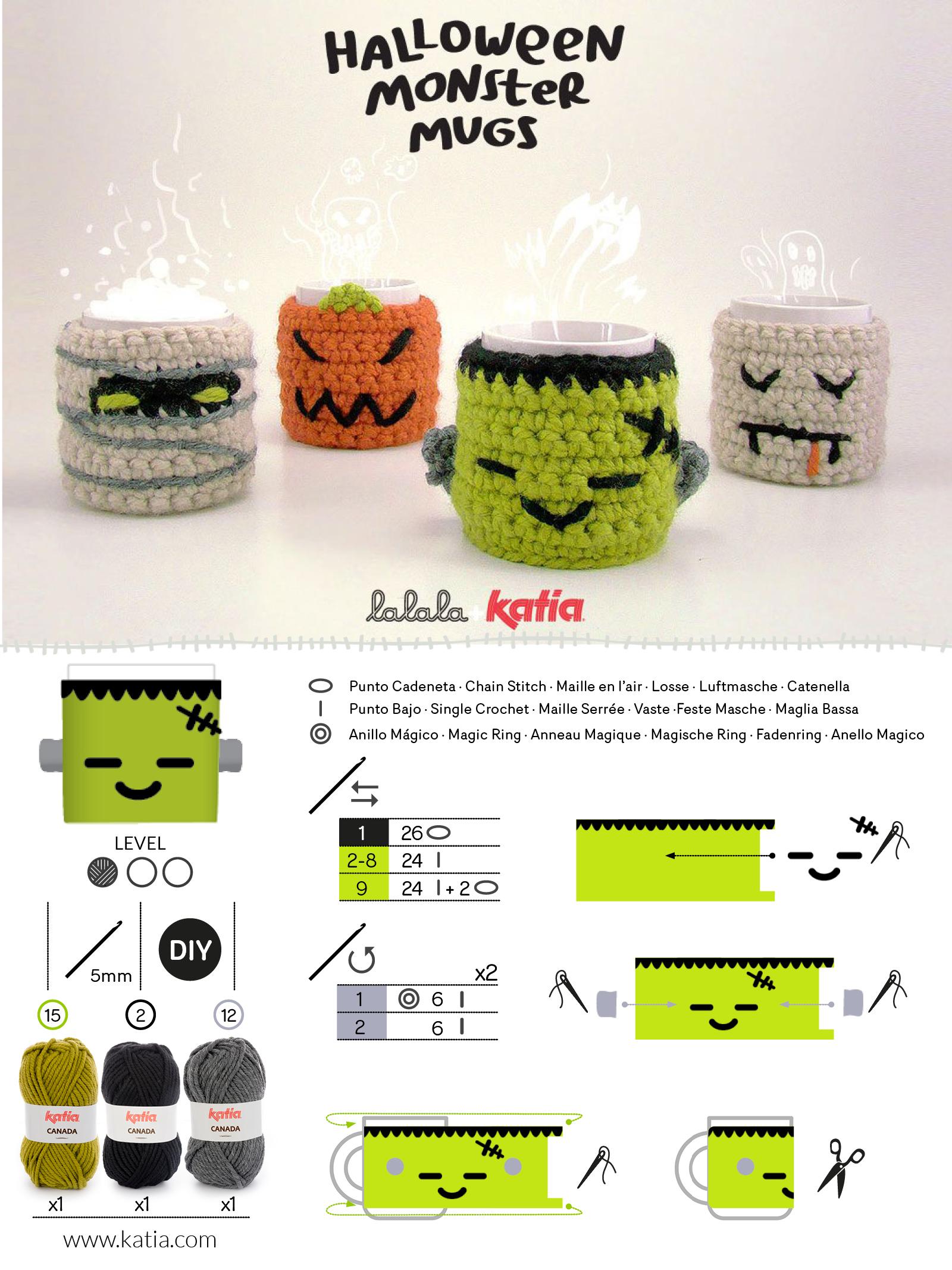patrón crochet símbolos