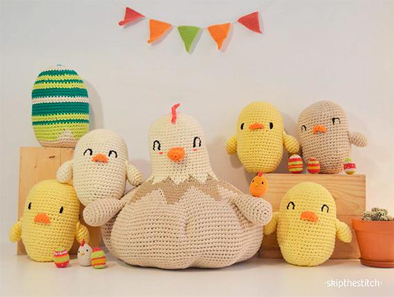 Patrones XXL: Pascua a lo grande con huevos y pollos gigantes